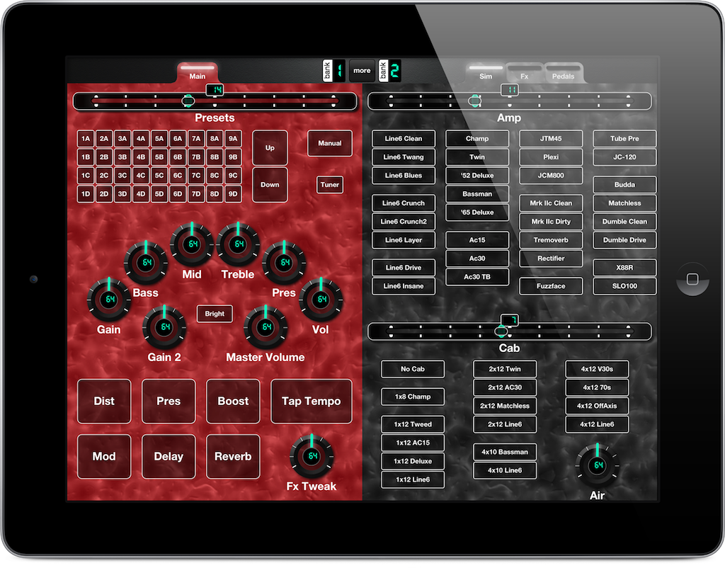 MIDI Controller for iPad for Line6 Pod 2.0, 1 of 3