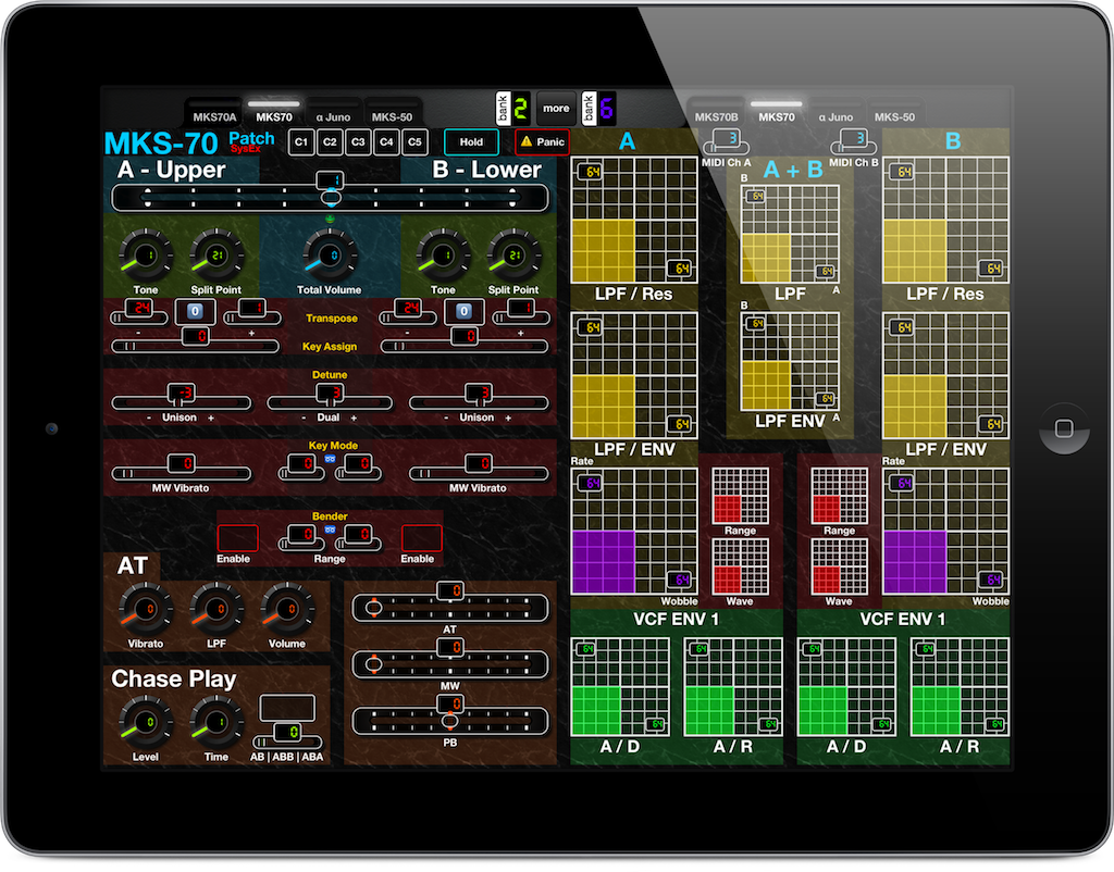 A MIDI Controller for iPad for Roland MKS-70 Patch