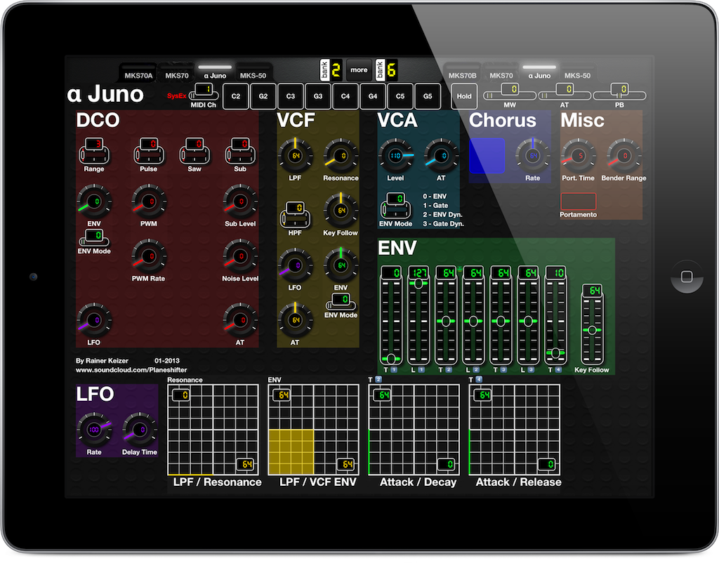 A MIDI Controller for iPad for Roland Alpha Juno