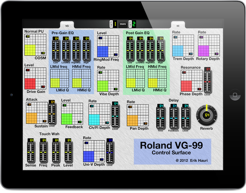 MIDI Controller for iPad for Roland VG-99