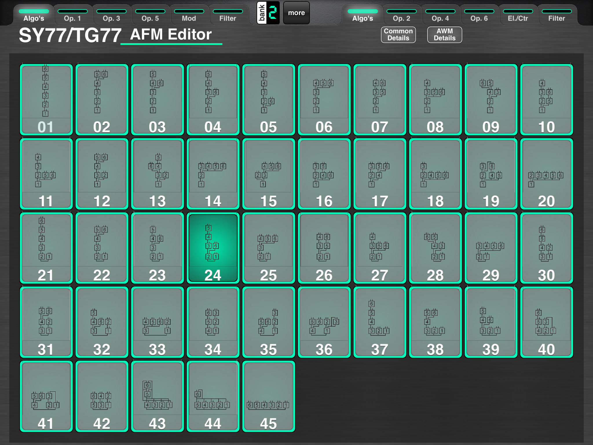 yamaha sy77 tg77 voice editor screenshot ...