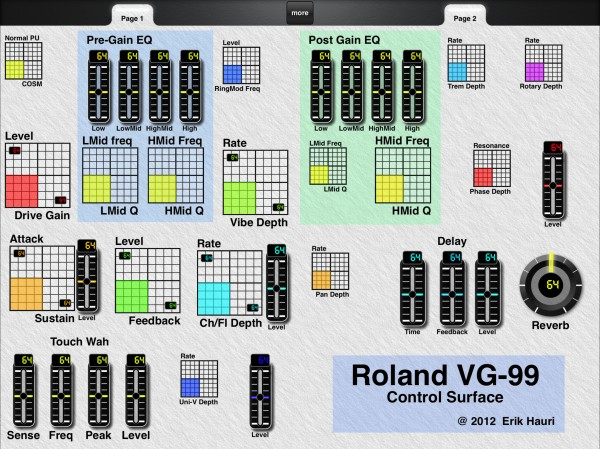Roland VG-99 Layout with Classic Look