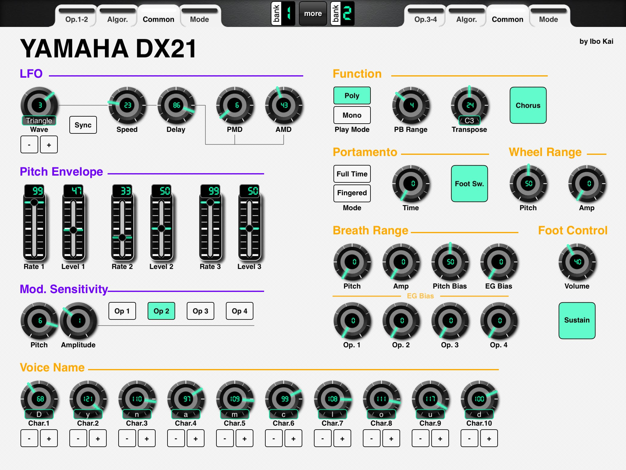 LAYOUT: Voice Editor for Yamaha DX21 - MIDI Designer Q&A