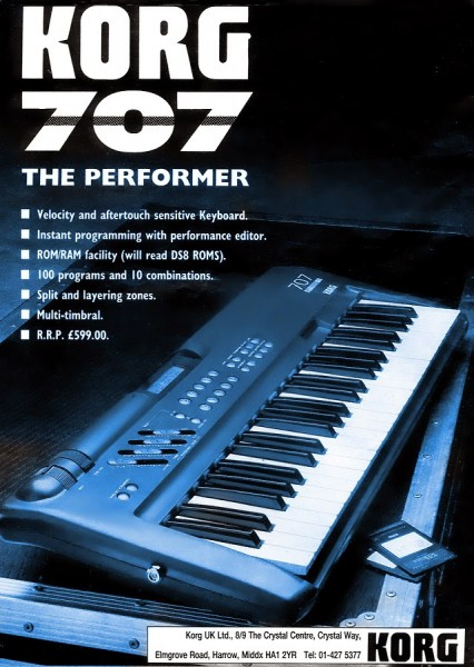 Korg 707 Early Flyer
