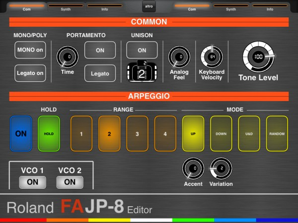 Roland FA Supernatural Synth (JUPITER 8 workflow) Common page