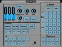 Ample Guitar Layout for MIDI Designer by Michel Lafontaine
