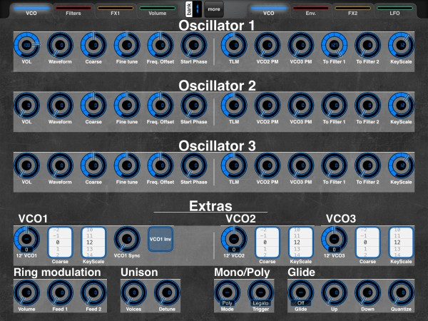 Oscillator section