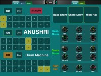 LAYOUT: Anushri Synth's Drum Machine: 1
