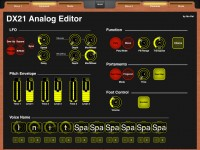 LAYOUT: Yamaha DX21 Analog Editor: 2