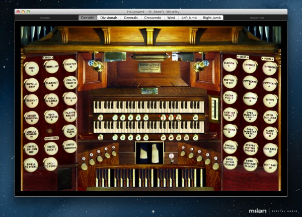 The Hauptwerk St. Anne's Symphonic Organ