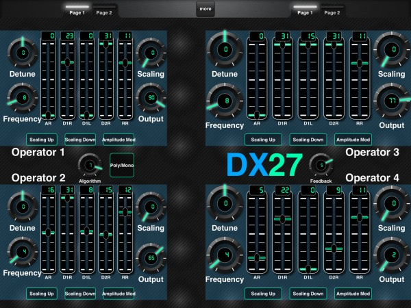Download Layout for Yamaha DX27