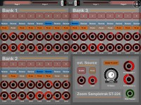 Layout for ZOOM Sampletrak ST224: 1