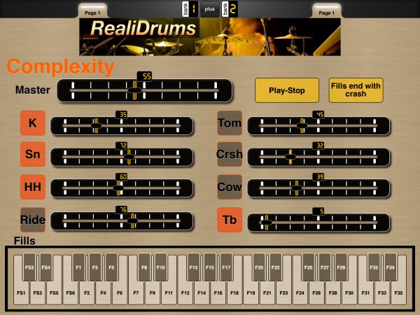 RealiDrums by Realitone MIDI Controller Screenshot