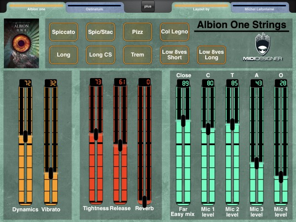 LAYOUT: Albion One (Strings) by Spitfire Audio - MIDI