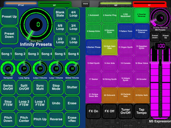 Line6 M5 Page + Pigtronix Infinity Page (Glow)