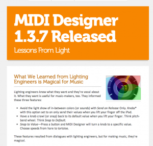 MIDI Designer Flyer for 1.3.7 Release