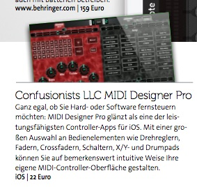 Beat (Maclife) Mention of MIDI Designer